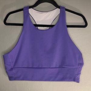 Zella Mid Tank Sports Bra Purple